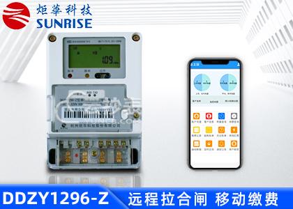 杭州矩华DDZY1296-Z载波单相预付费电能表