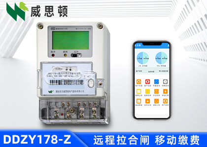 烟台威思顿DDZY178-Z载波单相预付费电能表